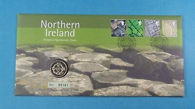 2001 First Day Cover £1 Coin Representing Northern Ireland