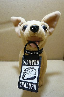 "Adorable Vintage 6"" Taco Bell Chihuahua-WANTED CHALUPA-Says ""Drop the Chalupa"""