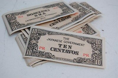 Japanese Government 10 Centavos Philippines Occupation Money WWII