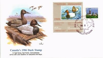 Dr Jim Stamps Canada Duck Stamp Combination Fleetwood Cachet Cover 1986