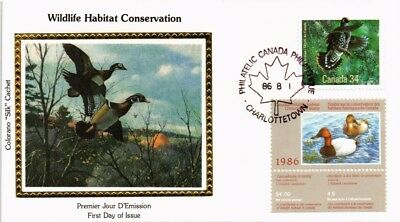 Dr Jim Stamps Wildlife Conservation Duck Combination Silk Cachet Canada Cover