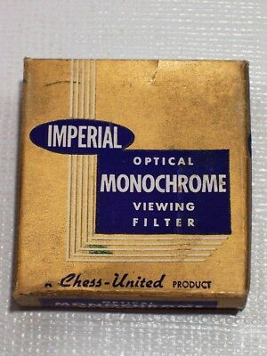 VINTAGE IMPERIAL Optical Monochrome Viewing Filter in Original Box Instructions