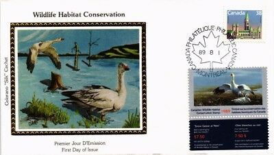 Dr Jim Stamps Wildlife Conservation Combination Canada Silk Cachet Cover 1989