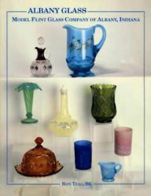 BOOK! Albany Flint Glass 1893 Opalescent Canary Cut