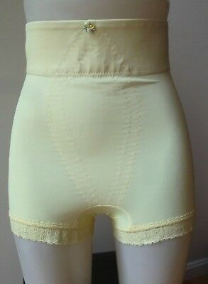 Vintage De Luxe Fashions HIGH WAIST brief style panty girdle sz XL