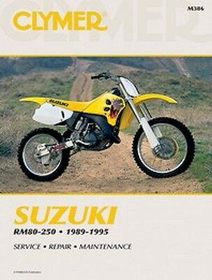 Suzuki RM80 RM125 RM250 RMX250 1989-1995 Clymer Manual M386 NEW