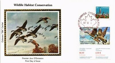 Dr Jim Stamps Bird Combination Wildlife Conservation Silk Cachet Canada Cover
