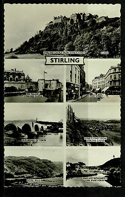 Real Photo Postcard - Stirling Multiview - Perthshire Scotland