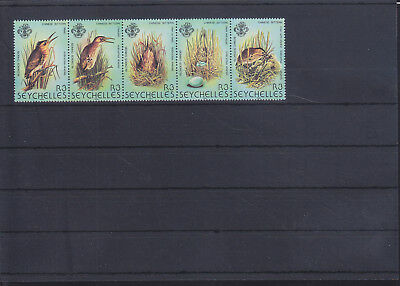 054807 Vögel Birds Seychelles 498-502 ** MNH Year 1982