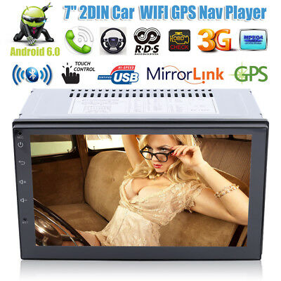 7'' Android 6 3G WiFi Double 2 DIN Car Radio Stereo OBD2 No-DVD Player GPS AM/FM