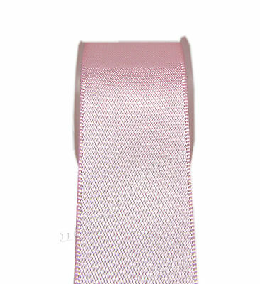 "4y 57mm 2 1/4"" Lt Pink Double Sided Premium Heavy Satin Ribbon Eco FREE PP"