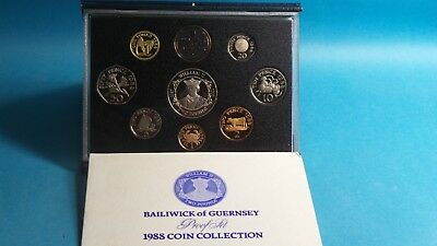 Guernsey  Official 1988 Brilliant Proof Coin Collection