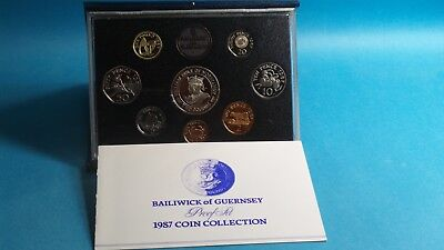 Guernsey  Official 1987 Brilliant Proof Coin Collection