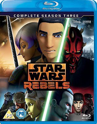 Star Wars Rebels: The Complete Season 3 Three [Blu-ray Set, Region Free, 3-Disc]