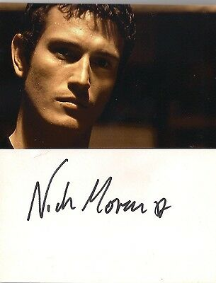 Nick Moran genuine signed autograph on white card + photo !  Harry Potter