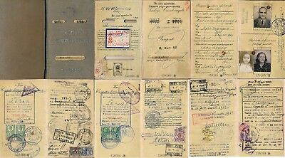 Turkey 1951, Scarce Passport Pages With 22 Different Revenues, 2 Scan Images #e7