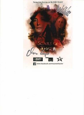 Scars of Xavier signed by cast on photo ! New Horror film