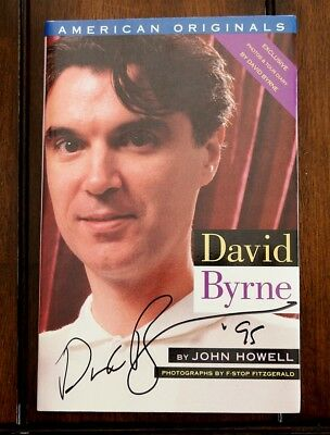 """DAVID BYRNE Talking Heads 1992 FIRST EDITION """"double"""" SIGNED in 1995"""