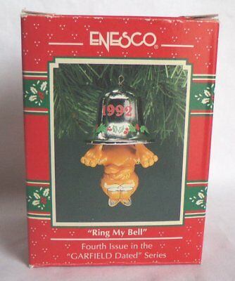 Enesco Garfield 'Ring My Bell' Christmas Ornament 1992
