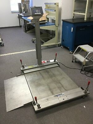 "Mettler Toledo PUMA Mobile Floor Scale Stainless 0.02 500# 36""x36"" Hazardous Loc"