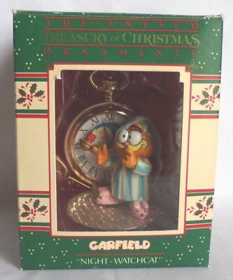 Enesco Garfield 'Night Watchcat' Christmas Ornament