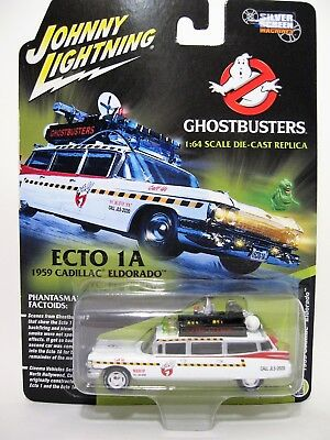 Johnny Lightning 1/64 Silver Screen Machines  Ghostbusters Ecto 1A 59 Cadillac