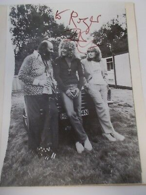 Robert Plant Signed Picture 70's