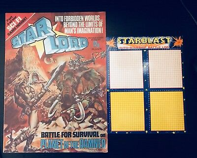Star-Lord UK comic #7 1978 plus free gift Strontium Dog Guardians of the Galaxy