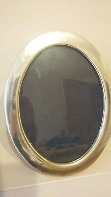 BEAUTIFUL LARGE 22cm X 17cm OVAL QUALITY R CARR HALLMARKED SILVER PHOTO FRAME