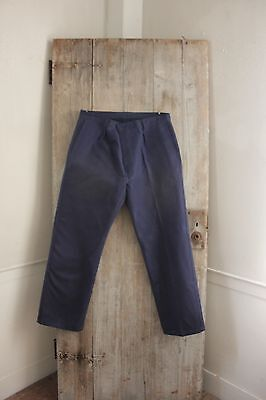 Vintage French work chore pants clothes utilitarian Trousers UNUSED deadstock