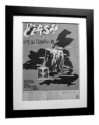 The Clash+Complete Control+Tour+Poster+Ad+1977+Framed+Original+Fast Global Ship
