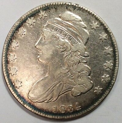 1834 Bust Half Dollar - Very Nice High Grade Type Coin - No Reserve