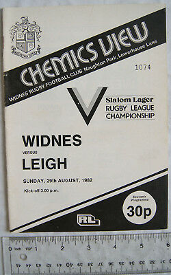 1982 programme Widnes v. Leigh