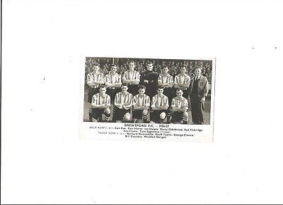BRENTFORD 1956/57 Team Group Photograph, published by 'The Daily Express'