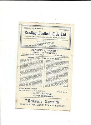READING v IPSWICH TOWN (League Cup) 1945/46