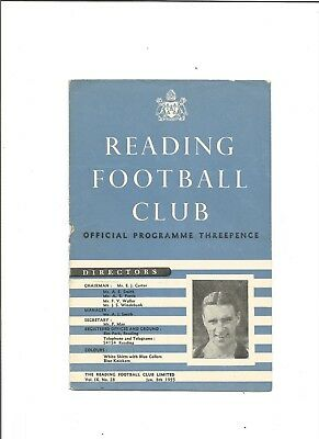 READING v MANCHESTER UTD (F.A Cup) 1954/55