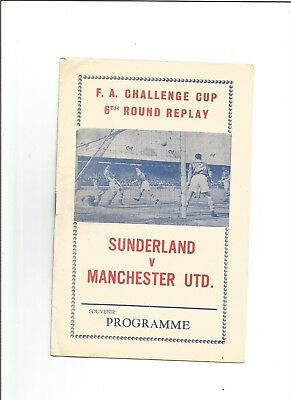 SUNDERLAND v MANCHESTER UTD (F.A Cup) 1963/64 (Pirate Issue)