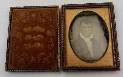 Quarter Plate Daguerreotype of Oil Painted Portrait of Southern Gent Raleigh, NC