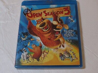 Open Season 3 blueray disc movie Blue Ray Blu-ray Boog and Elliot are back NEW