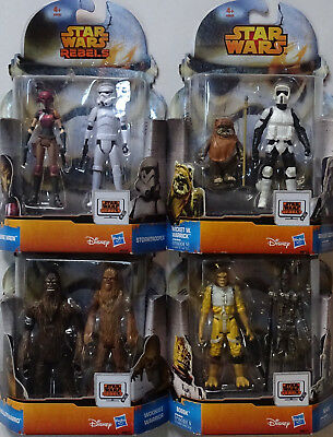 HASBRO® Star Wars® REBELS™ Konvolut mit 4 Doppelpacks (8 Figuren) (10cm)