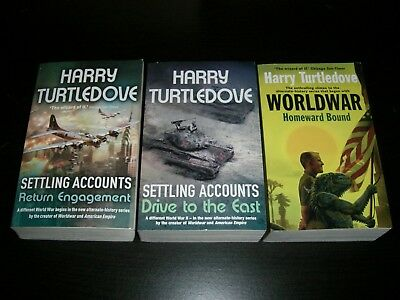 3 x books by Harry Turtledove.