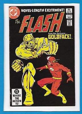 """The Flash #315_Nov 1982_Very Fine_""""from The Darkness...goldface""""_Bronze Age Dc!"""