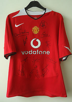 Manchester United  Legends Football Shirt By Nike  Signed By 13