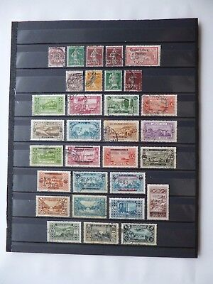 LEBANON :- 1924 - 1930 : Mint & Used selection.