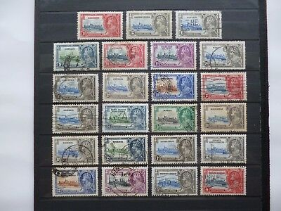 BRITISH EMPIRE :- 1935 : Silver Jubilee selection, Used.
