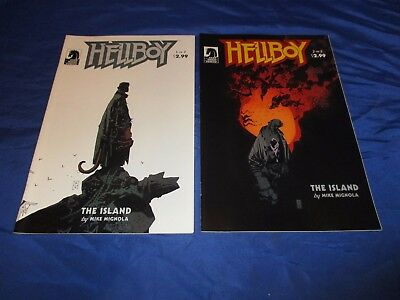 Hellboy The Island (2005) #1 & 2 1st Prints Mike Mignola Story Cover & Art VF/NM