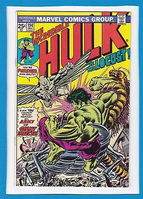 "INCREDIBLE HULK #194_DECEMBER 1975_FINE/VERY FINE_""HULK Vs THE LOCUST""!"