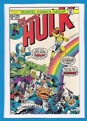 "Incredible Hulk #190_August 1975_Very Fine+_""glorian & The Toad Men""_Bronze Age!"