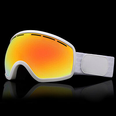 White Unisex Windproof Anti-Fog Sports Snowmobile Snowboard SKI Snow Goggles