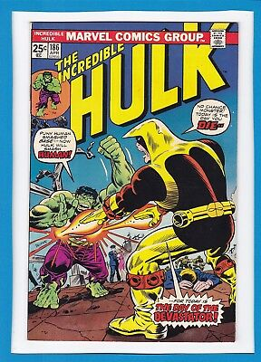 "Incredible Hulk #186_Apr 1975_Very Fine_""the Day Of The Devastator""_Bronze Age!"
